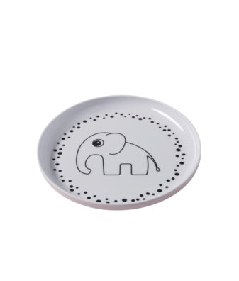 yummyn plate happy dots powder