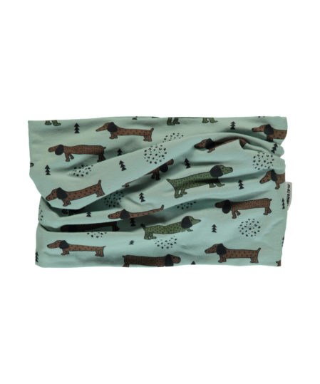 maxomorra scarf tub velour dotted puppy